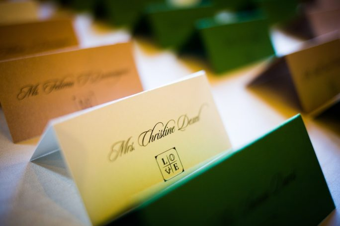 Private Dinner Reception Custom Escort Cards