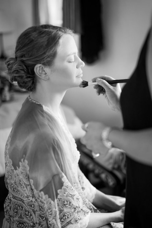 The Peaceful Bride getting Ready for the Ceremony