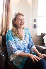 The Bride Starts Her Day with Heartfelt Laughter