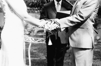 The Handfasting Ceremony During the Wedding