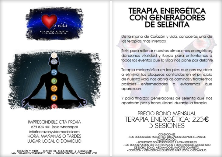 Terapias alternativas, mediumnidad y espiritismo - Tfno.: 675 829 401 (sólo WhatsApp) - info@corazonyvidamadrid.com