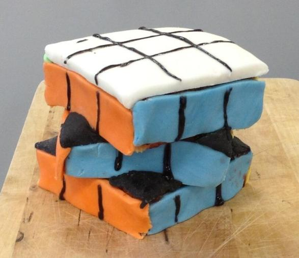 Rubik Cube Cake - @7maths7