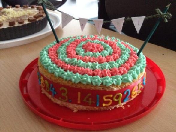 Colourful Pi Cake