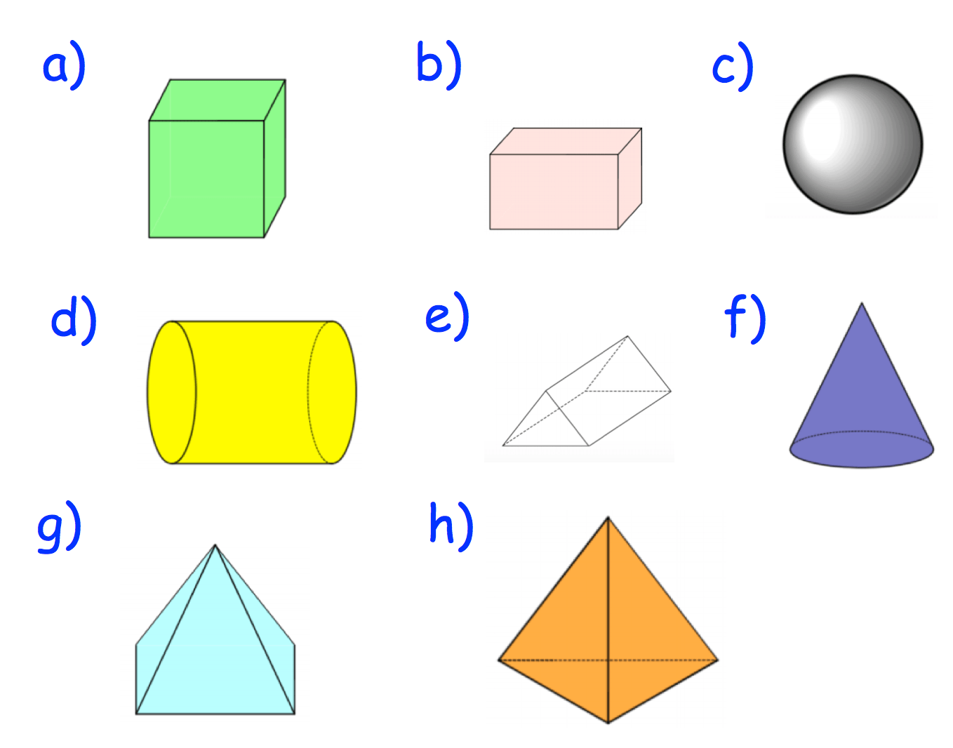 Textbook Answers 3d Shapes