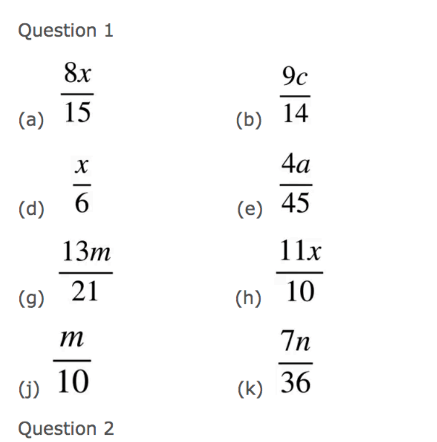 Adding Algebraic Fractions Textbook Answers