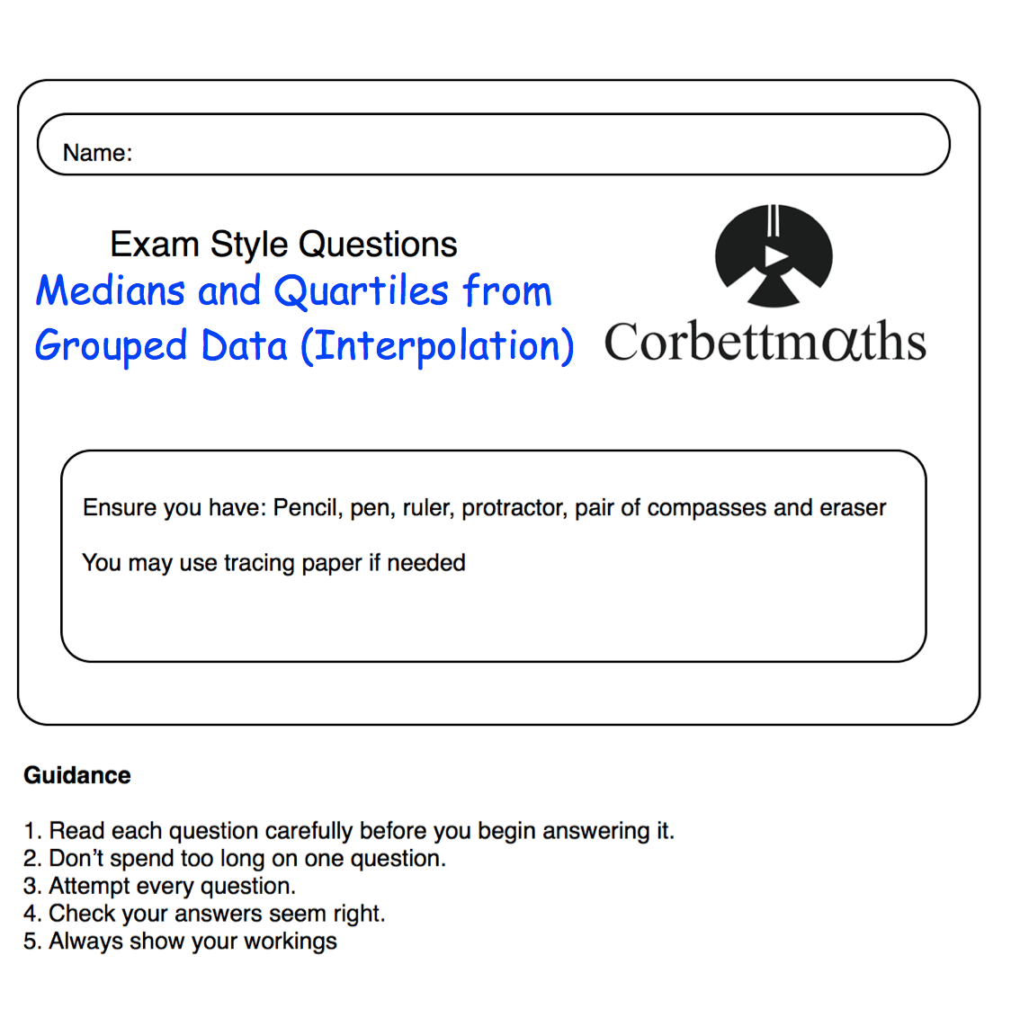 Pq Medians Quartiles From Grouped Data Corbettmaths
