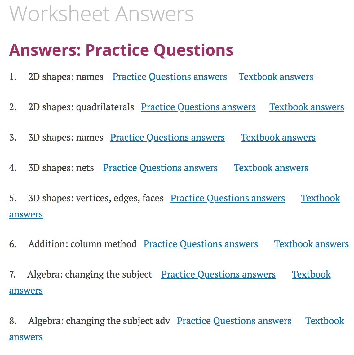 Worksheet Answers Corbettmaths [ 1146 x 1142 Pixel ]