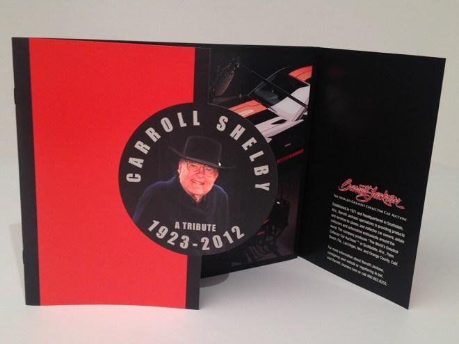 Carroll Shelby Tribute Brochure designed by Corbin Snyder.