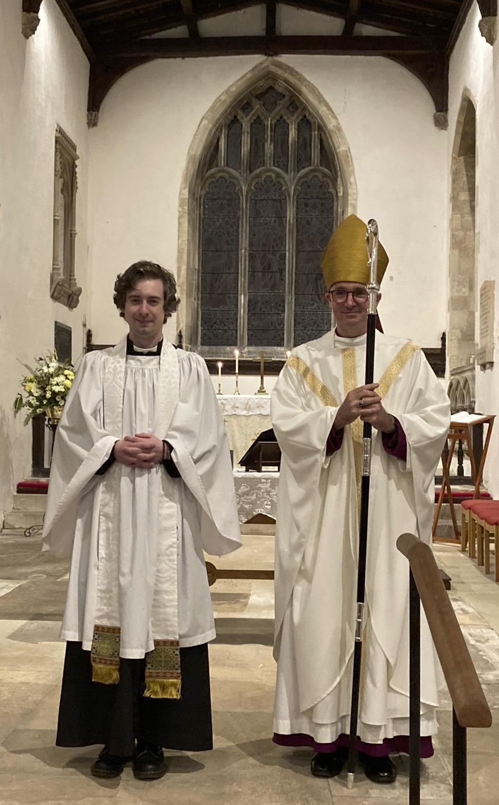 Revd Aron and Bishop Nicholas