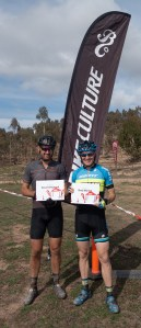 Brad Morton (r) 1st & David Sheppard 2nd in Masters 3/4 Men