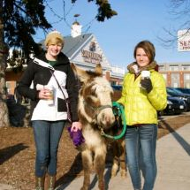 Two girls and a mule one evening on Silver Spring, Whitefish Bay Wisconsin