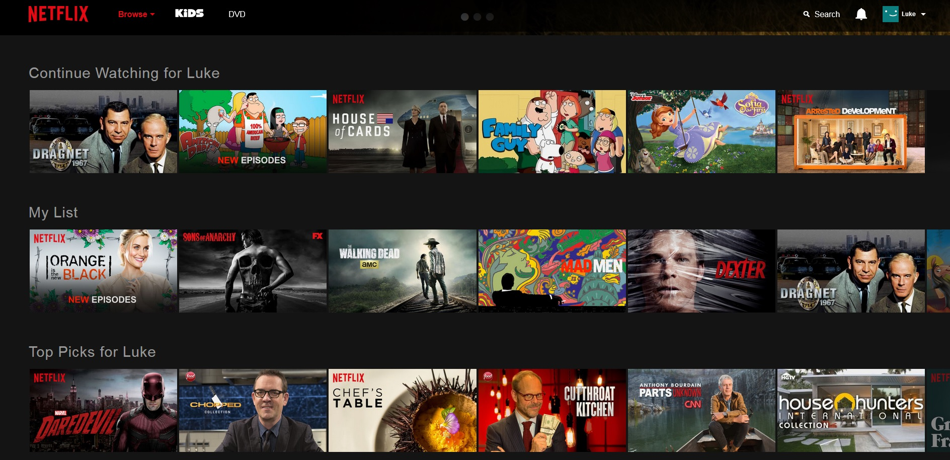 Netflix releases their new web site cord cutters news - Home shows on netflix ...
