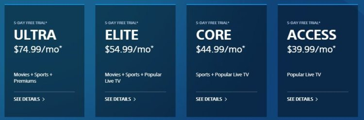PlayStation Vue Raises The Price of All Their Packages