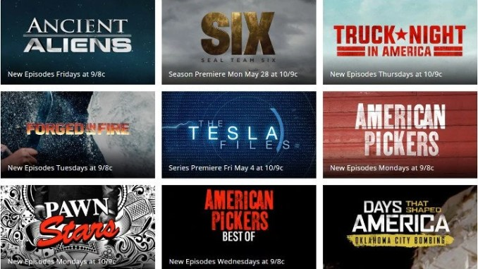 how to watch history channel live without cable  2018 update