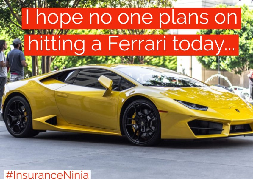 I hope no one plans on hitting a Ferrari today
