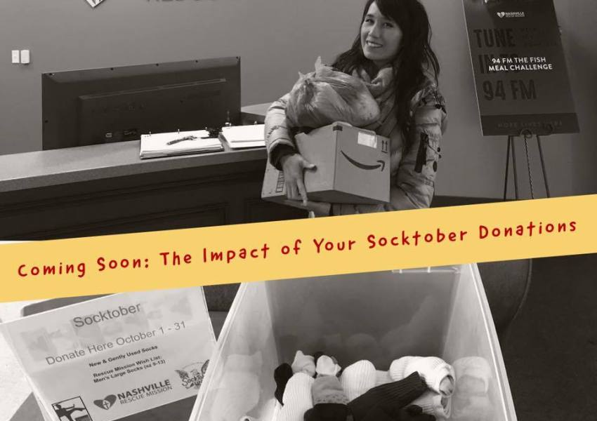 Sock Drive Dropoff at Nashville Rescue Mission
