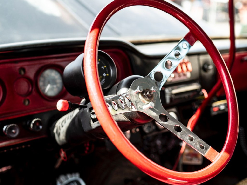 Steering Wheel of Collector Car