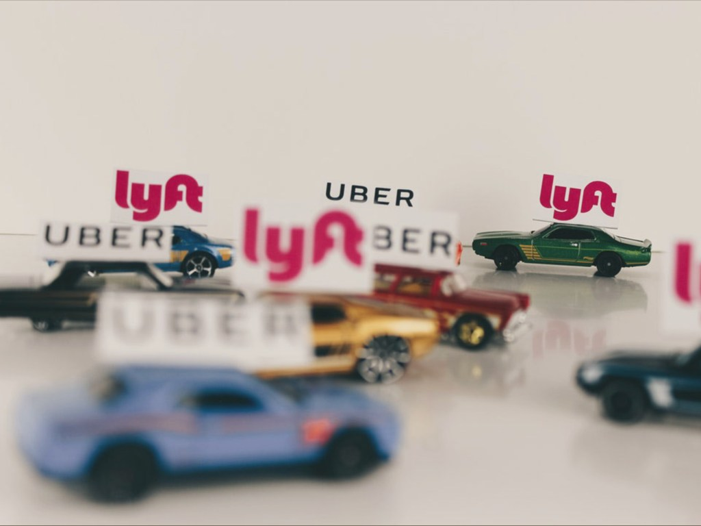 Lyft and Uber Cars