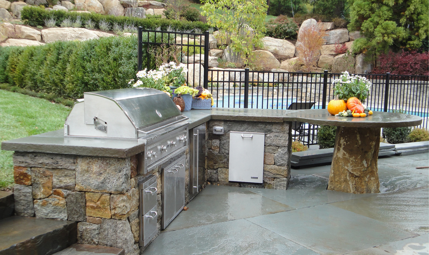 Outdoor Kitchens   Cording Landscape Design on Outdoor Grill Patio id=99543