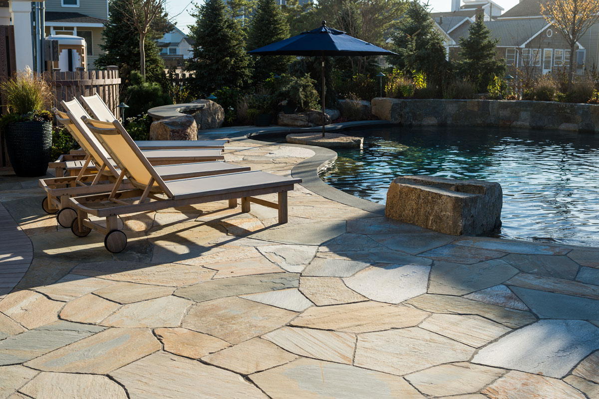 Beautiful Ideas: Using Natural Stone for your Patio ... on Rock Patio Designs  id=76888
