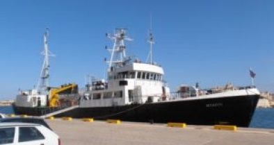 KNS MTAFITI Imo.8424903. built in 1977 . bought in 2013 . 625grt. Kenyan navy research vessel 23-9-13