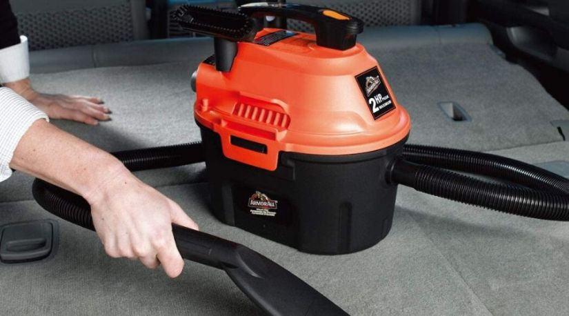 Best cordless car vacuum in use to clean car carpet and show how multipurpose it is for use in the garage, car or even in the house