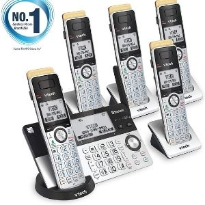 an image of VTech IS8151-5 Super Long Range 5 Handset DECT 6.0, a significant unit among the best cordless phone with answering machine