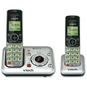 A pictorial representation of the VTech CS6429-2 2-Handset DECT 6.0 Cordless Phone with Answering System, one of the primary models among the best cordless phones with answering machines