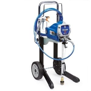 A pictorial representation of the Graco Magnum 262805 X7 Cart Airless Paint Sprayer, a special and powerful unit among the best cordless paint sprayer