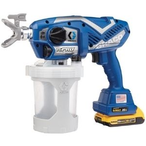 An image of the Graco TC Pro Cordless Airless Paint Sprayer, an example of the best cordless paint sprayer model