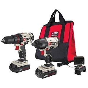 An image of PORTER-CABLE 20V MAX Cordless Drill Combo Kit an example of energy efficient best cordless drill under $150