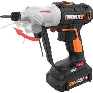 A picture of WORX WX176L 20V Switchdriver 2-in-1 Cordless Drill, an effective unit that can be used both as a drill and a screwdriver among the best 20v cordless drill