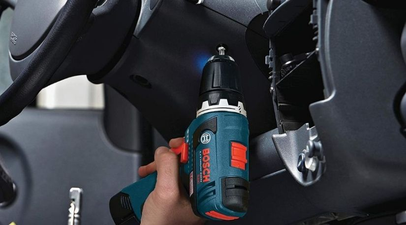 An image showing an individual using one of the primary best lightweight cordless drill to drive in the screws