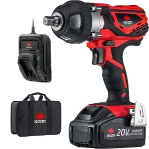 an image of NoCry 20V Cordless Impact Wrench Kit, an example of one of the best impact wrench for wheel nuts unit