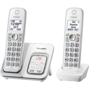 a pictural representation of Panasonic DECT 6.0 Expandable Cordless Phone with Answering Machine, an example of one of the Best Panasonic Cordless Phone with Answering Machine you will fancy having in your home