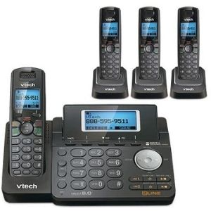 Enjoy thirteen minute digital answering system delivered by VTech DS6151-11 DECT 6.0 2-Line Expandable Cordless Phone, one of the best VTech cordless phone