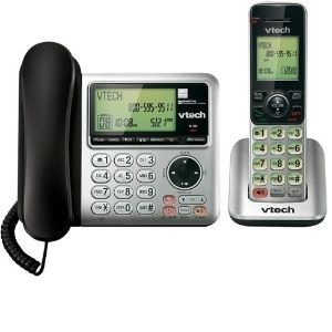 VTech CS6649 Expandable Corded/Cordless Phone System exhibited above is a phenomenal unit that will allow you to expand it to five handsets while utilizing a single phone jack and conveys both corded and cordless convenience among the best VTech cordless phone models