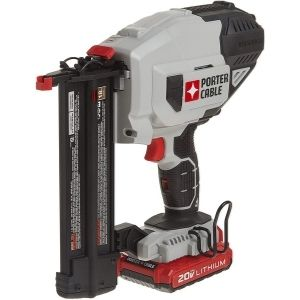 The PORTER-CABLE 20V MAX Cordless Brad Nailer is one of the best cordless pin nailers thanks to its unique battery shown above that exhibits outstanding potency and extended runtime