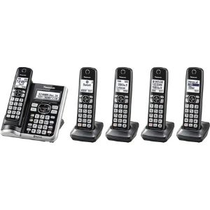 A picture of Panasonic Link2Cell Bluetooth Cordless Phone System with Voice Assistant, Call Blocking and Answering Machine, one of the bluetooth enabled model among the Best Panasonic Cordless Phone with Answering Machine