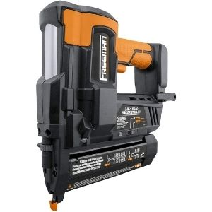 """The Freeman PE20V2118G Cordless 20V 2-in-1 18 Gauge 2"""" Nailer shown in the image above counts as one of the best cordless pin nailers thanks to its exemplary versatility"""