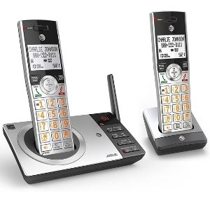This is a representation of one of the best at&t cordless phone models namely AT&T DECT 6.0 Expandable Cordless Phone (CL82207), a bargain accompanied by two cordless handsets but can be expanded to support 12 handsets
