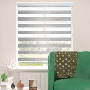 ShadesU Window Shades Zebra Dual Layer Roller Sheer Blinds Light Filtering Window Treatments Privacy Light Control for Day and Night is another exemplary unit among the best cordless blinds that will help you control light in your house and provide you with immense security