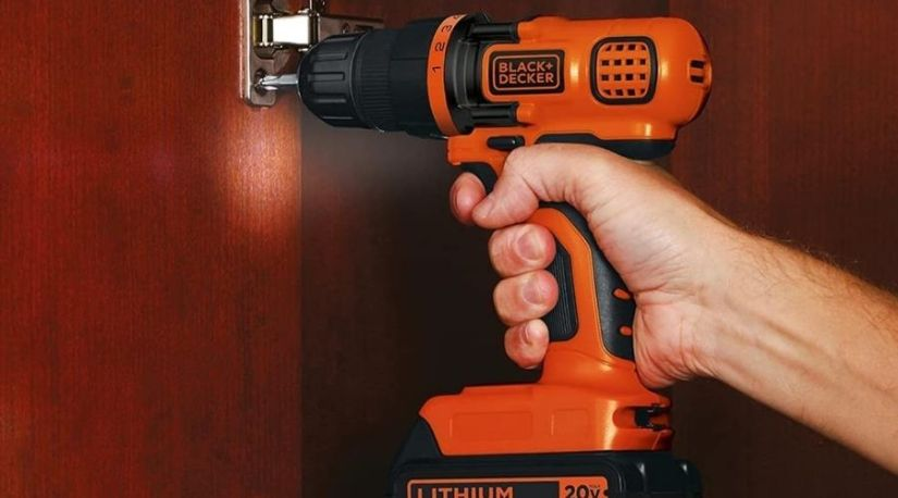 An image of BLACK+DECKER 20V MAX Cordless Drill / Driver, 3/8-Inch (LDX120C), one of the best cordless drill units in use to drive in screws