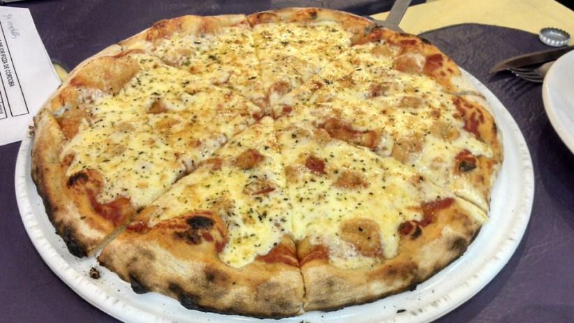 La pizza en La Trattoria