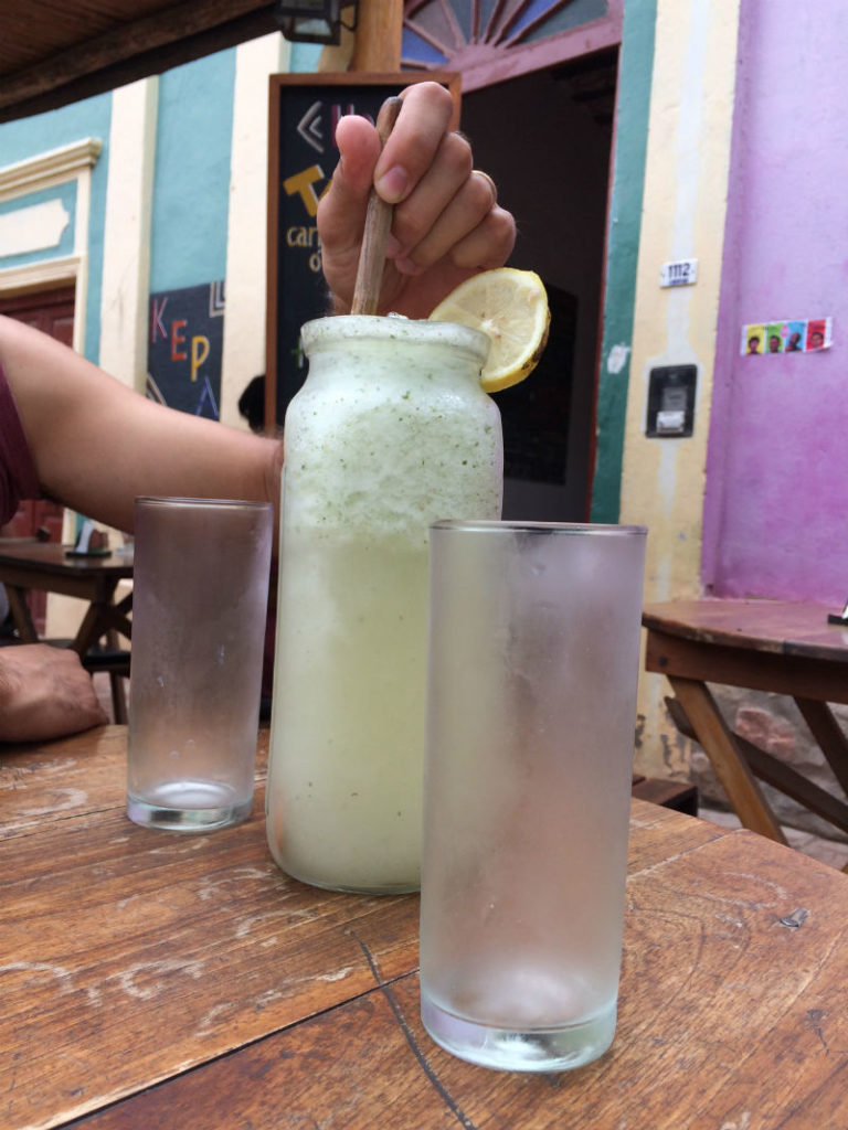 Limonada de jengibre.