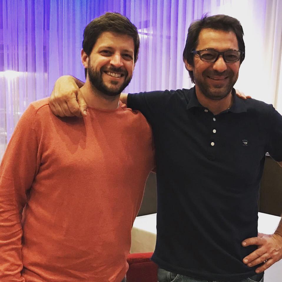Javier Rodríguez y Mauricio Giovanini