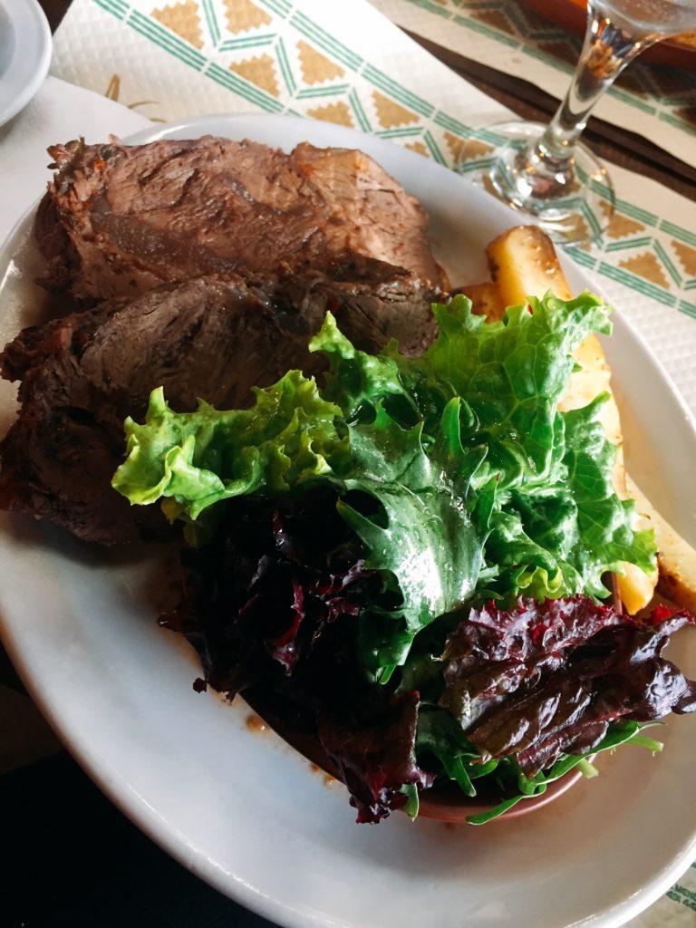 Carne a la masa en Casa de campo