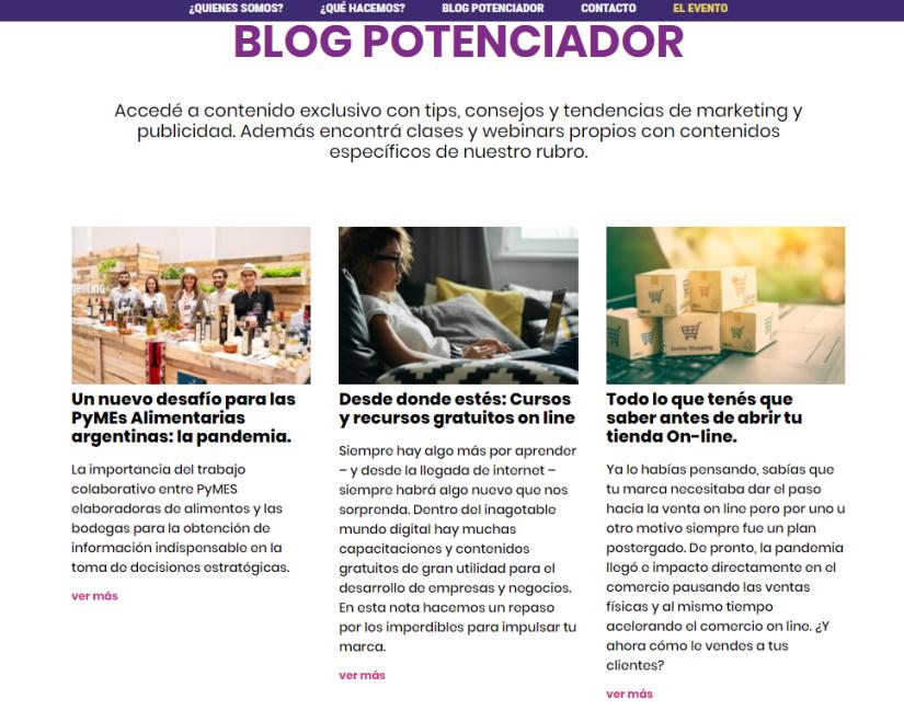 Blog potenciador