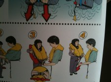 Not Skymall either... I've never seen a person about to escape a plane by water so happy before!