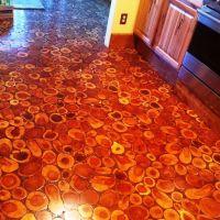 Cordwood Flooring by Sunny in sunny Arizona